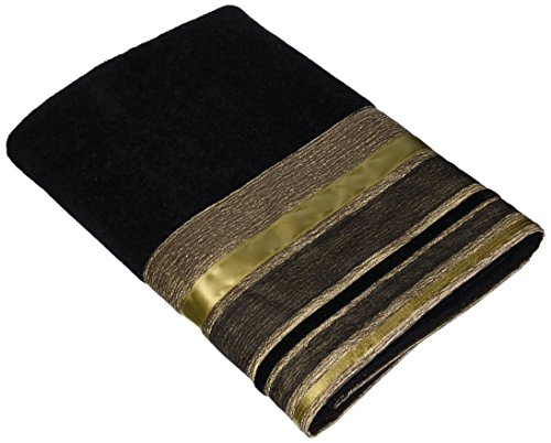 Avanti Linens Geneva Hand Towel, Black (Avanti Black compare prices)