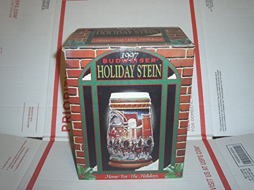 1997 Budweiser Holiday Stein Home for the Holidays - Anheuser Busch Collectibles