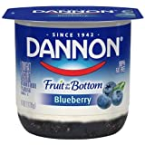 Dannon Fruit on the Bottom Blueberry Yogurt, 6 Ounce -- 12 per case.