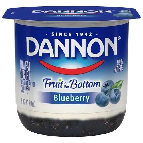Dannon Fruit on the Bottom Blueberry Yogurt, 6 Ounce -- 12 per ()
