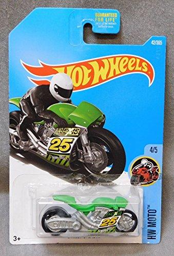 2017 Hot Wheels Car 42/365 Street Stealth Green motorcycle #25 HW MOTO 4/5 - Stealth Wheels