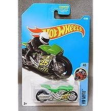 2017 Hot Wheels Car 42/365 Street Stealth Green motorcycle #25 HW MOTO 4/5