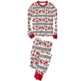 KINDOYO Family Christmas Pajamas Sets Deer Striped Sleepwear - Red-Daddy