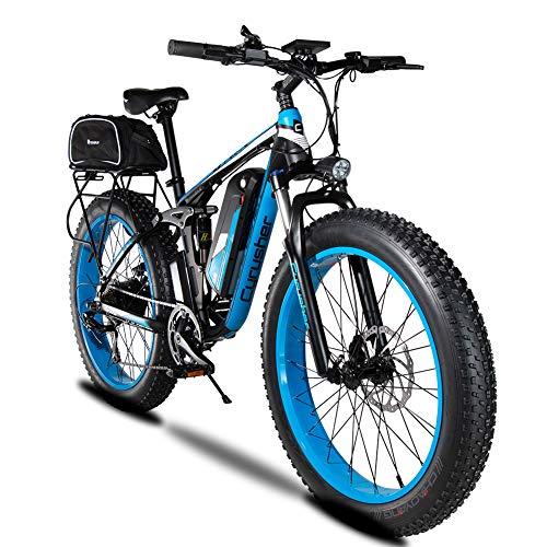 🥇 Extrbici Bicicleta eléctrica XF800 1000W 48V 13AH Sistema de Cambio de Marchas de 7 velocidades Computadora Inteligente de 5 velocidades