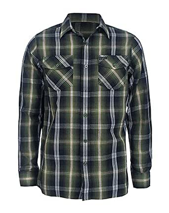 Plaid Light Woven Shirt Green L