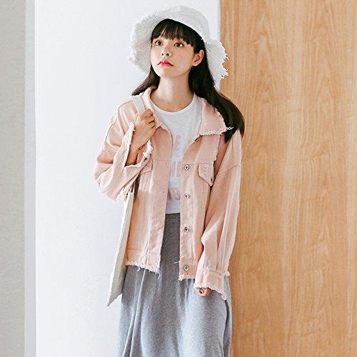 Jean Uniform Veste shirt Lâche Pink T En Fille Xxin z16xga