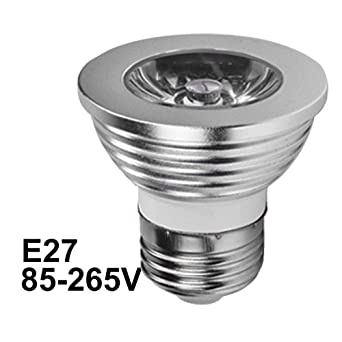 E27 Lámpara LED RGB 4W MR16 GU10 GU5.3 Bombilla LED 110 V 220 V