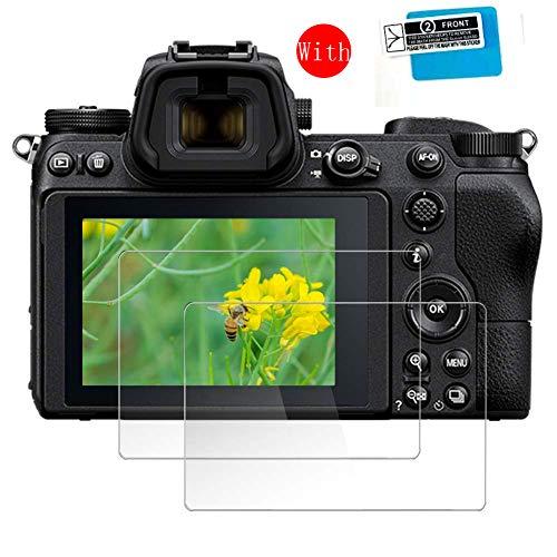 For Nikon Z7 / Z6 液晶保護フィルム- [2枚] [9H] [HD] タブレット 保護ガラス カメラのフィルム画面保護フィルム強化フィルム ガラスフィルム + TPU ショルダースクリーンNikon Z7 / Z6