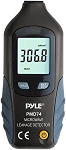 Premium Pyle Microwave Radiation Meter, Radiation Test, LED Microwave Oven Testers, Leak Detectors, High Precision, Highly Sensitive, No Recalibration Needed, Long Life Battery, 9 Volt (PMD74)