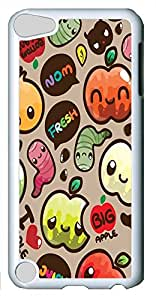 iPod Touch 5 Cases & Covers - Kawaii Apples Custom PC Soft Case Cover Protector for iPod Touch 5 - White