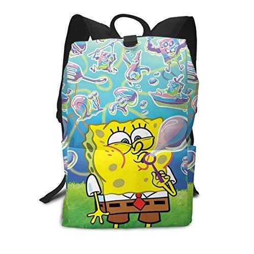 Spongebob Squarepants Fun Pocket - PSnsnX Spongebob Squarepants Funny Children's Lightweight Travel Backpacks School Book Bag White