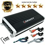 Gravity GBR300-4D True 500-Watt RMS Micro Ultra Compact Digital 4-Channel Full Range Amplifier with RCA Stereo input - Perfect for Motorcycle, RV, ATV, Car, Boat, Marine