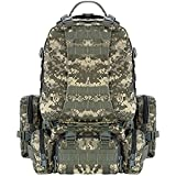 CVLIFE 50L Military Tactical Army Outdoor Backpacks Assault Combat Rucksack Heavy Bug Out Bag ACU