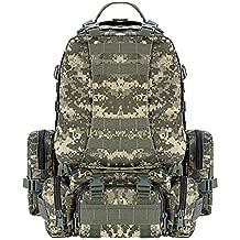 CVLIFE Outdoor 50L Military Rucksacks Tactical Backpack Assault Pack Combat Backpack Trekking Bag