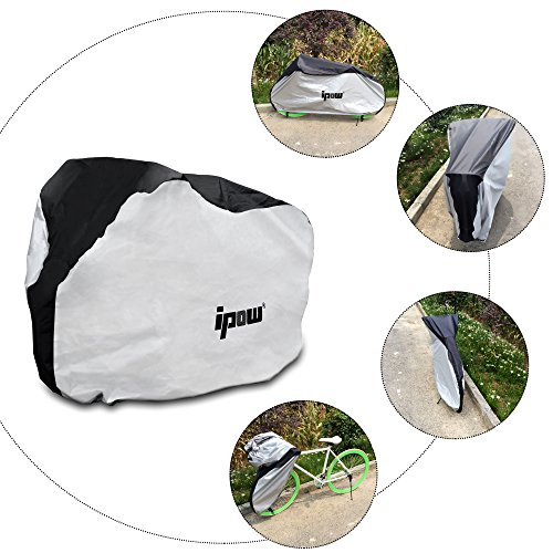 IPOW 210D Thicken Oxford Fabric Waterproof Snowproof UV Protective Cycle Bike Bicycle Cover with Bag Best for Mountain Road Electric and Cruiser Bikes by IPOW (Image #5)