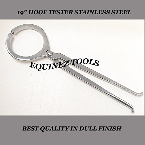 Hoof Tester, Large 19'', Hand Crafted, Stainless Steel, Farrier Horse