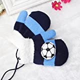 Pyrsun(TM) Gloves Winter for kids soft thicken thermal yarn knitted full finger palmeiras futebol pattern gloves fit cute boy gift