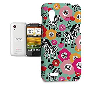 Phone Case For HTC Desire VT - Zebra Blossoms Green Hard Premium