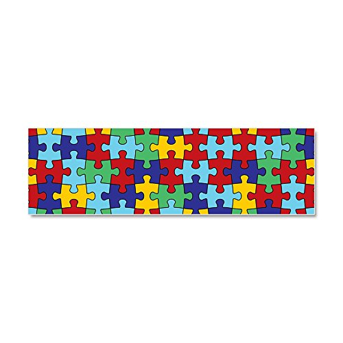 CafePress - Autism Awareness Puzzle Piece Pa Car Magnet 10 x 3 - Car Magnet 10 x 3, Magnetic Bumper Sticker - Autism Puzzle Car Magnet