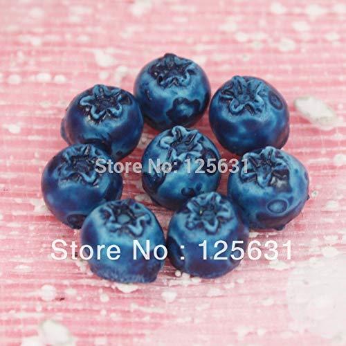 ZAMTAC Kawaii Flatback DIY Resin Miniature Food Blueberry Cabochon Flat Back Scrapbooking Embellishment Decoration Crafts Making: 88mm