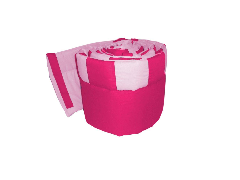 Babykidsbargains Patchwork Perfe Countion Cradle Bumper, Fuji/Pink, 18'' x 36''