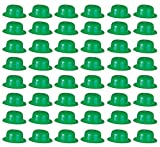 Beistle 33978 48-Pack Plastic Derbies Party Hat, Green