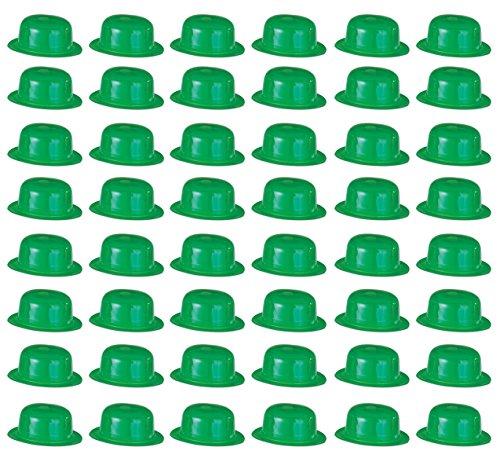 (Beistle 33978 48-Pack Plastic Derbies Party Hat, Green)