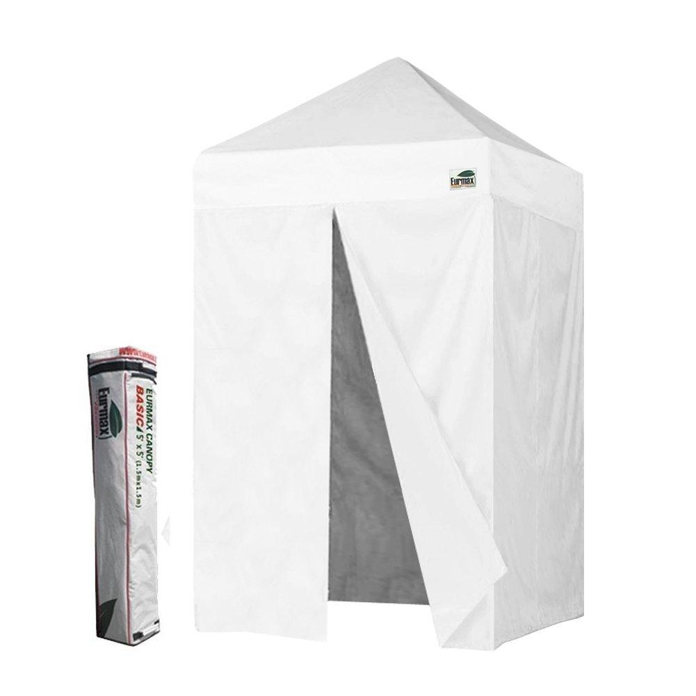 Basic Photo Booth 5x5 Pop up Canopy Tent Gazebo W/4 Zipper Side Walls & Carry Bag, White