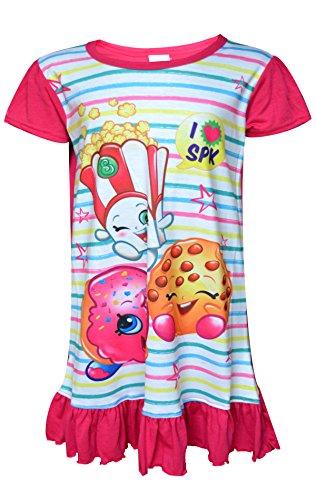 Shopkins Girls Polly Popcorn Apple Blossom Nightwear Sleepwear Sizes 2 to 8 Years