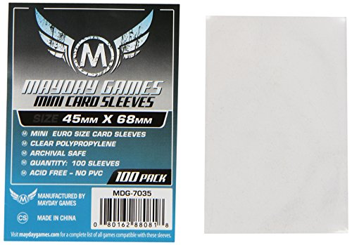 Mini Card Games (Mayday Games Mini Card Sleeve 45 MM X 68 MM pack of 100)