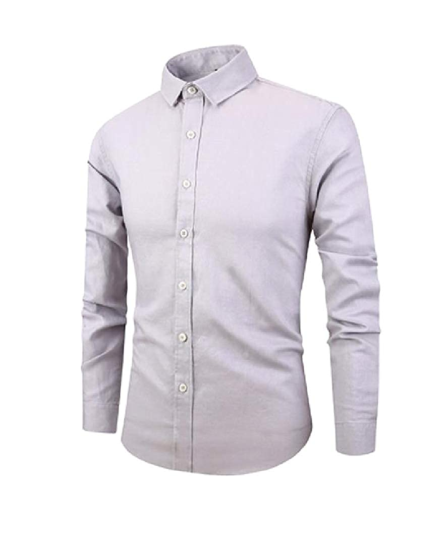 Comaba Mens Button Down Stylish Premium Select Original Fit Fit T-Shirts