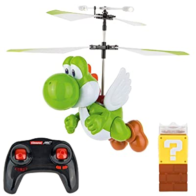 Carrera RC - Officially Licensed Super Mario Flying Yoshi 2.4Ghz 2-Channel Rechargeable Remote Control Helicopter Drone Toy with Easy to Fly Gyro System: Toys & Games
