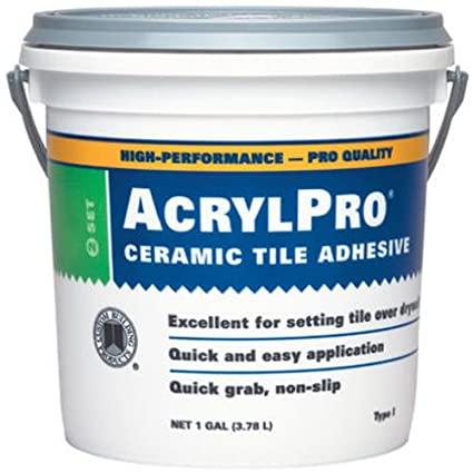 Custom Building Products Acrylic Ceramic Tile Mastic Gallon - Acrylic tile adhesive vs thinset