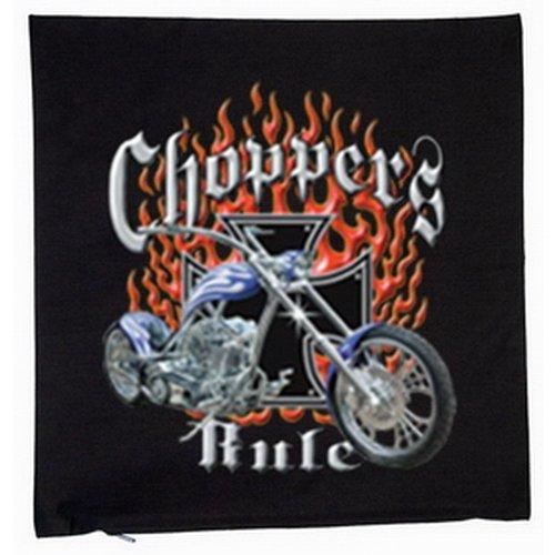 Chop piezas Rule motocicleta 40 x 40 cm Cojín flames ...