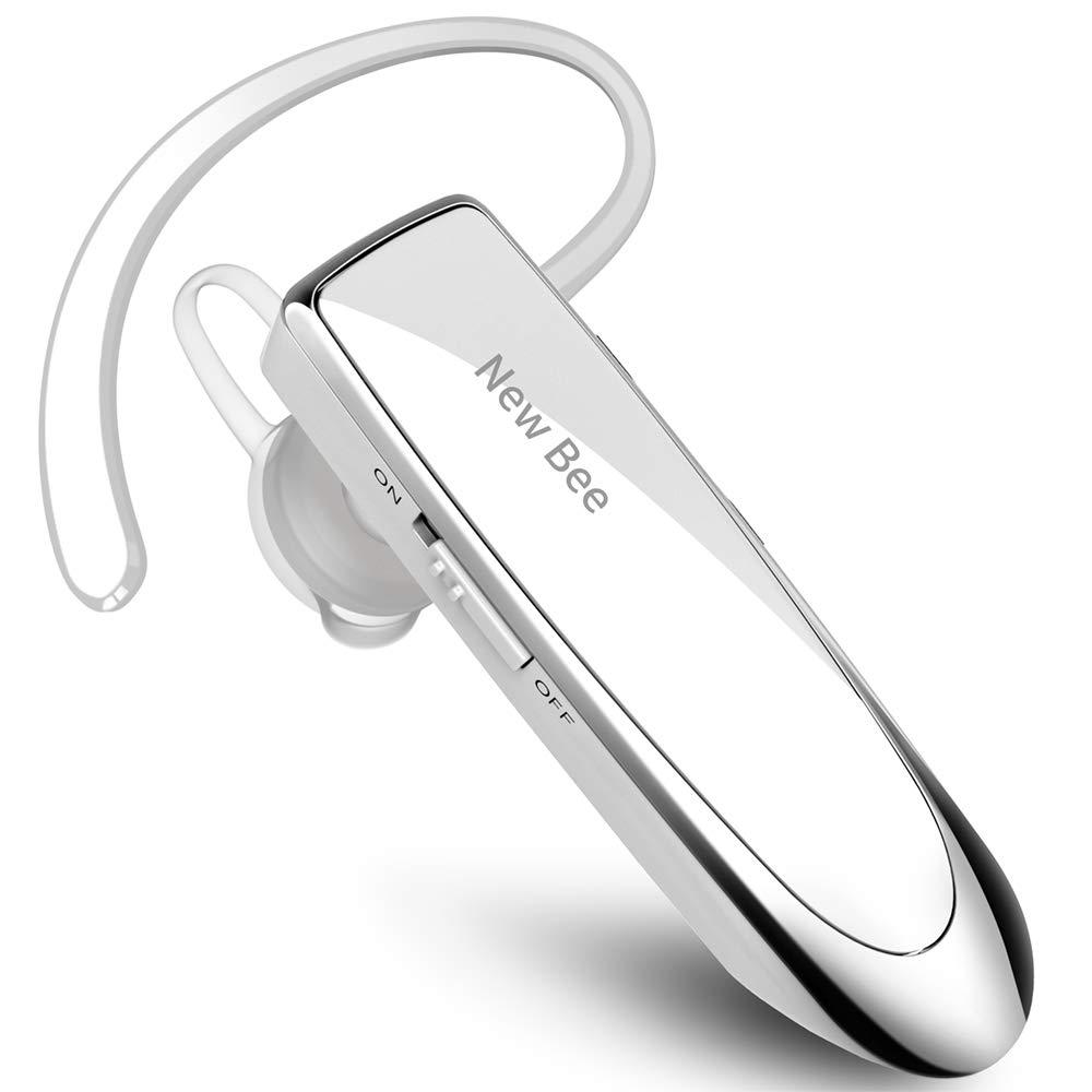 Blanco Sony etc Auricular Bluetooth New Bee Auricular inal/ámbrico Bluetooth Mano Libre con tecnolog/ía de Captura de Voz Clara Auricular Bluetooth para iPhone Samsung Huawei HTC