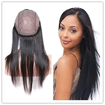 Image Unavailable. Image not available for. Color  Y Wigs Straight 360 Lace  Band Frontal Closures for Black Women ... ac5b15737