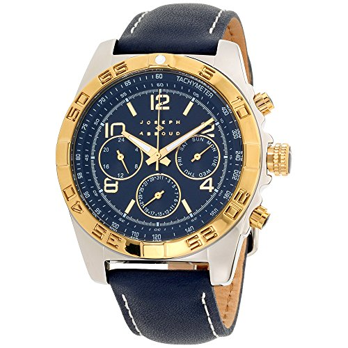Joseph Abboud Navy Dial Leather Strap Men's Watch JA3219S648-104