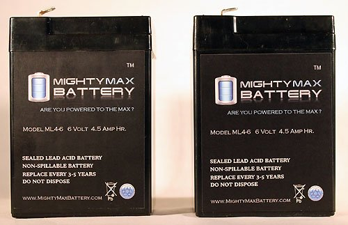 6V 4.5AH Replacement American Hunter DE645DC Game Fe ML4-6 Mighty Max 2 Pack