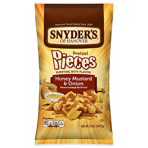 Snyder's of Hanover Pretzel Pieces, Honey Mustard & Onion, 12 Ounce