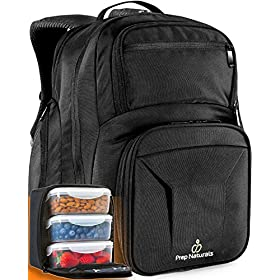 Meal Prep Backpack with Meal Prep Containers – Meal prep Bag Meal Prep Lunch Box – Meal Prep Backpack Lunch box Meal Prep Lunch bag Lunch bag with containers Insulated Lunch bag for men Lunchbox Tote