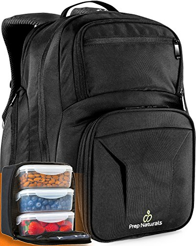 Meal Prep Backpack with Meal Prep Containers - Meal prep Bag Meal Prep Lunch Box - Meal Prep Backpack Lunch box Meal Prep Lunch bag Lunch bag with containers Insulated Lunch bag for men Lunchbox Tote - Backpack Lunch Box