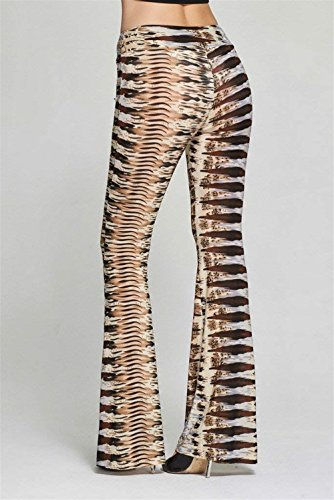 Marca Pantaloni Autunno Pantalone Taille Donna Mode Di Stampato Colpo Fit Larghi Nahen Slim Pants Braun Tempo Libero Vintage Primaverile zwBxdt