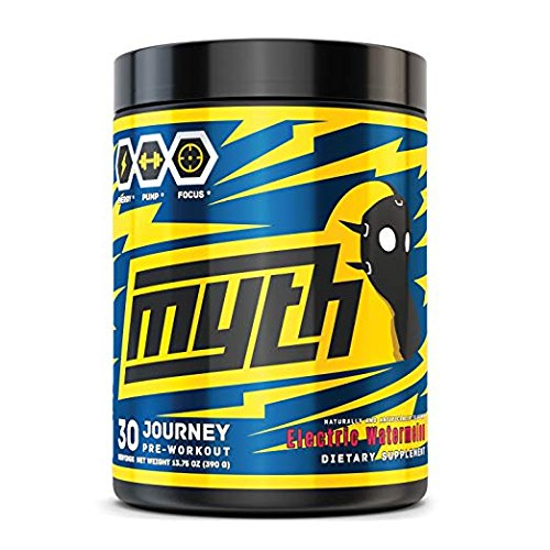 Mythlabs Journey Pre Workout Supplement Energy Powder with Alpha GPC, L-Citrulline, Beta-Alaline - Maximum Focus and Endurance - Electric Watermelon, 30 Servings