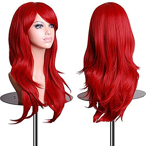 Red Carpet Natural Red Costumes Wig - Cosplay 28 inch Long Red Wavy