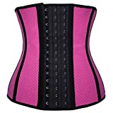 OCCUPY Women's Waist Tummy Trainer Spiral Steel Boned Body Shaper underburst Corset Adjustable Girdle Cincher