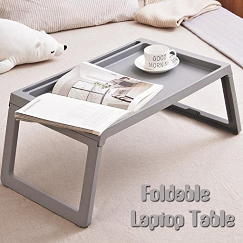 Foldable Bed Table for Laptop Plastic Folding Dining Picnic Desk Bed Tray Large Gaming Coffee Table Book for Kids Girls Women Men by ASAKI