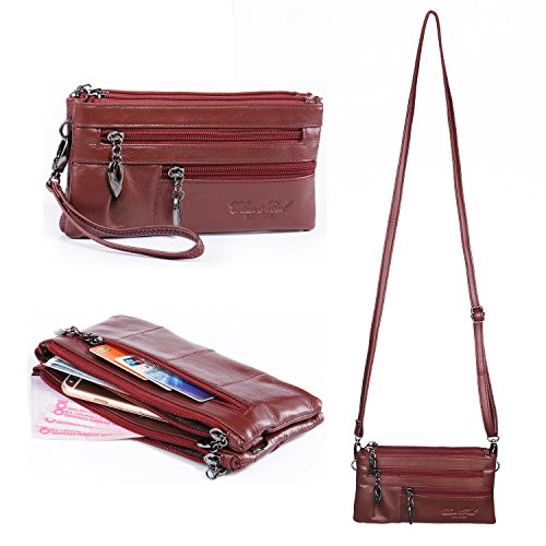 Wristlet Leather Handbag Crossbody Cellphone product image