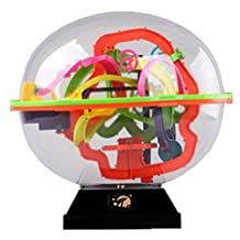 Magic Intelligence Ball 208 Hurdles UFO Maze 3D Maze Toys With Base