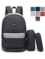 CrossLandy High School Bookbag Backpack Women Girls Boys Fits 15.6 inch Laptop