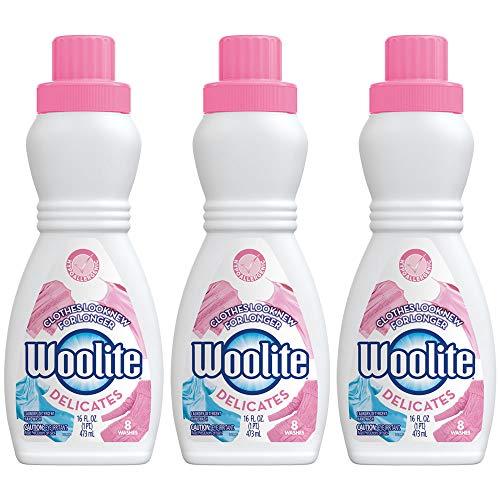 - Woolite Delicates Hypoallergenic Liquid Laundry Detergent, 16 fl oz Bottle, Hand & Machine Wash (Pack of 3)